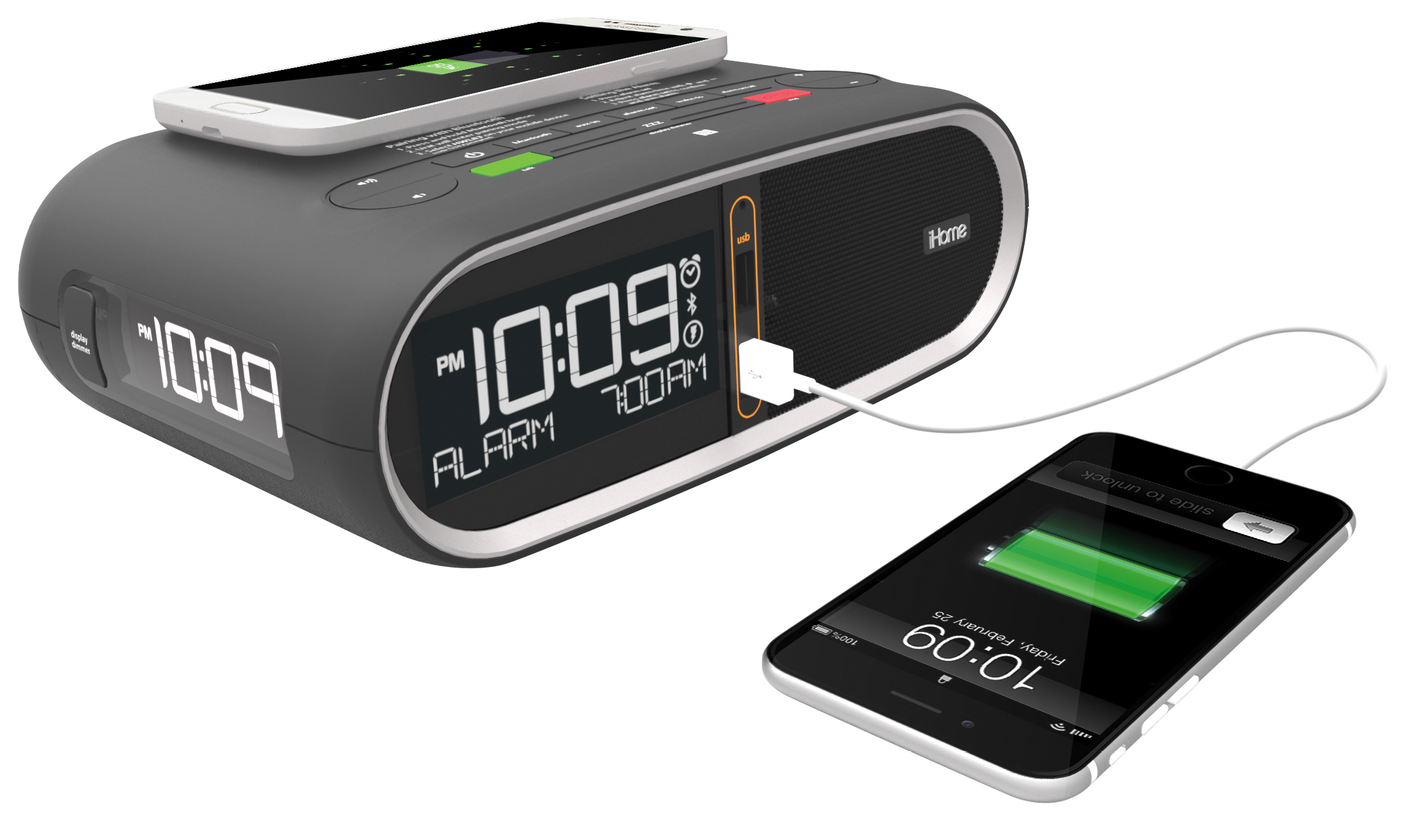 how to change time on ihome clock
